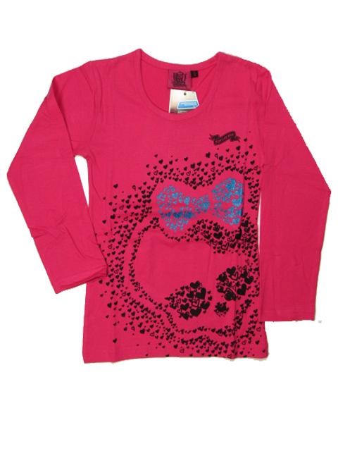 vel.116-Dívčí tričko Monster Hight - růžová barva