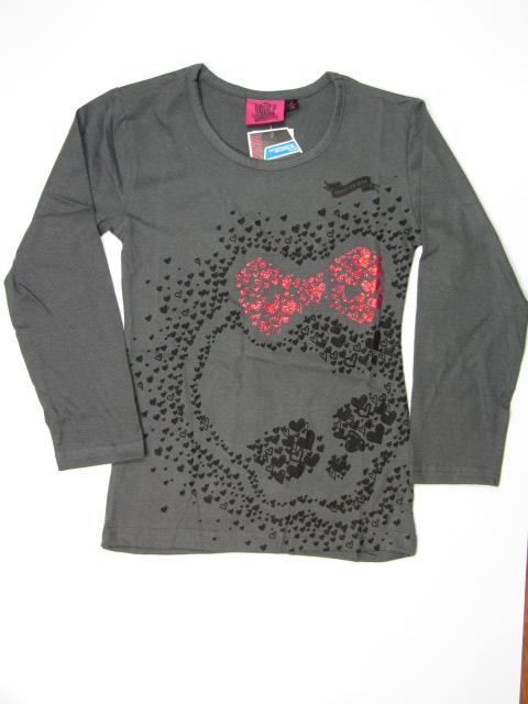 vel.116-Dívčí tričko Monster Hight - šedá barva