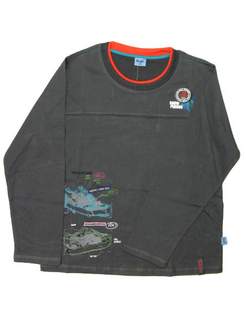 vel.152,164-Chlapecké tričko - dlouhý rukáv KUGO - barva tm.šedá