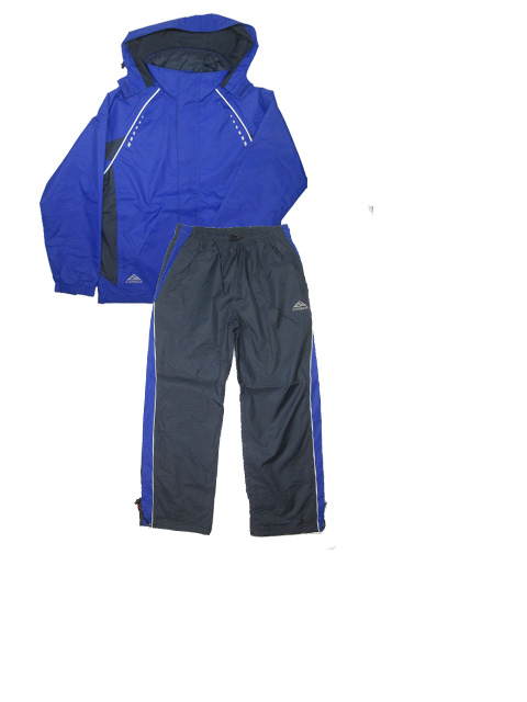 158-Sportovní šusťáková souprava KUGO - švestkově-modrá