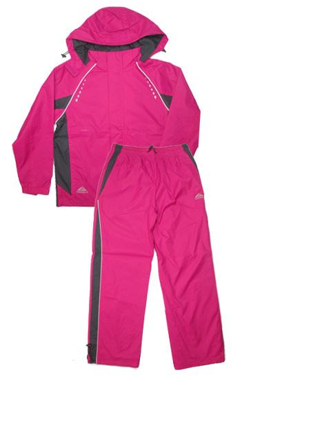 vel.164-Sportovní šusťáková jarní souprava KUGO - růžová barva