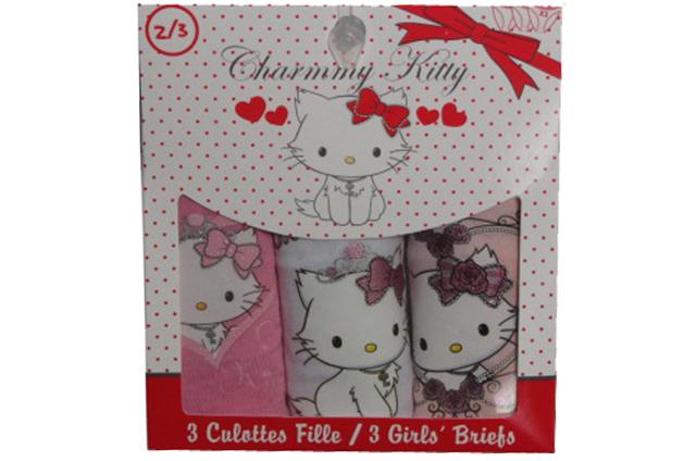 věk 6-8 Dívčí spodní kalhotky Hello Kitty