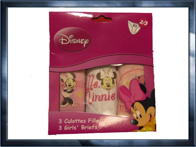 věk 2-3, 6-8 - Dívčí spodní kalhotky Minnie - sada 3 kusů