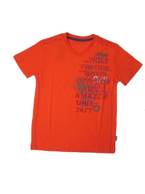 vel.164-Chlapecké tričko - krátký rukáv - oranžová barva