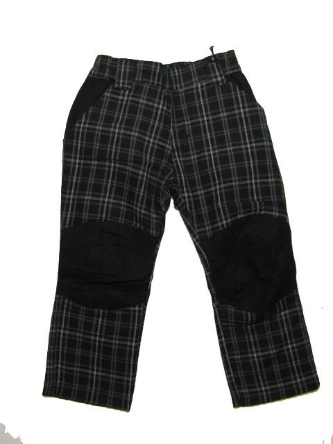 vel.98-Dětské letní kalhoty Neverest - černo-šedá barva
