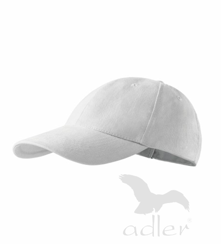 Dětská kšiltovka ADLER - barva bílá - UNI VELIKOST