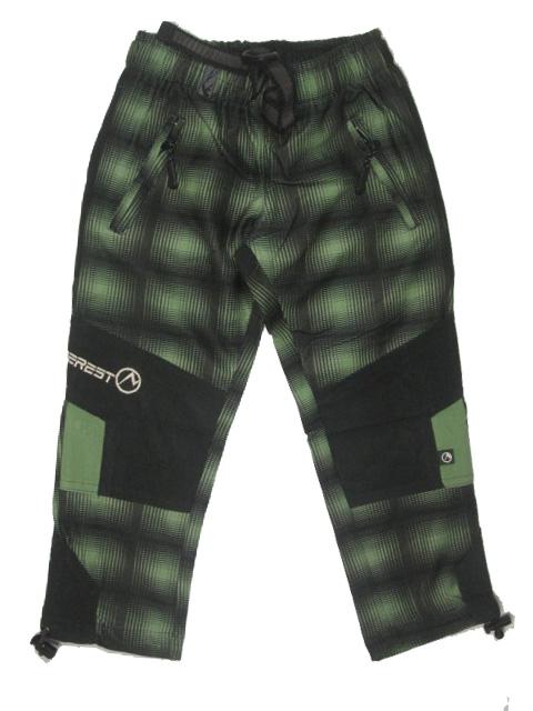 vel.98-Dětské kalhoty Neverest - zelená barva