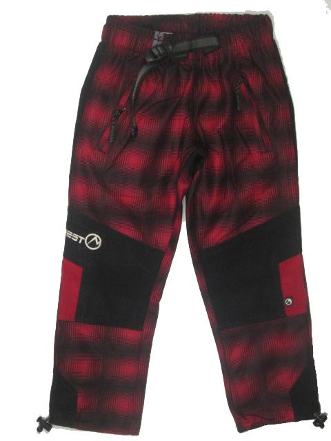 vel.116-Dětské kalhoty Neverest - červená barva