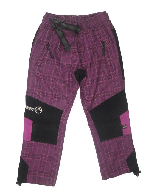 vel.98-Dětské kalhoty Neverest - fialová barva