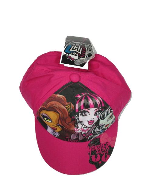 obvod 54,56-Dívčí kšiltovka Monster High - růžová barva