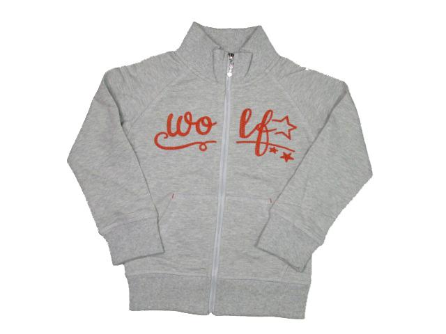 98,104-Dívčí mikina WOLF - 100% bavlna - šedá barva