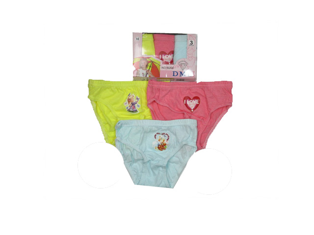 110-116-Dívčí spodní kalhotky trojpack