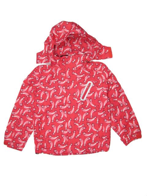 vel.116-122,-Dívčí podzimní/jarní bunda -červeno-oranžová