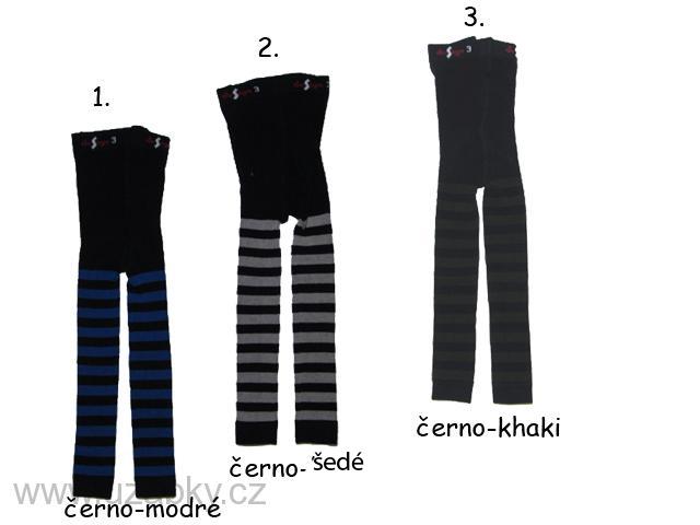 vel.140-146-Dětské legíny s proužkem Design Socks