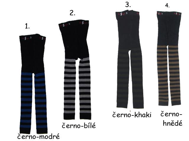 Dětské legíny s proužkem Design Socks - vel.104-110