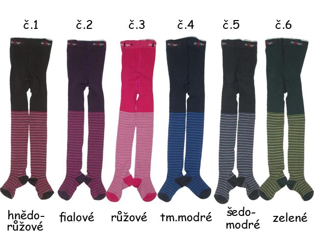 vel.104-110-Dětské punčocháče s proužkem Design Socks