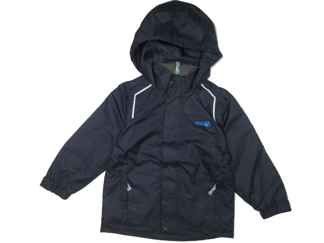 vel.128-Chlapecká podzimní/jarní bunda WOLF - barva tm.modrá