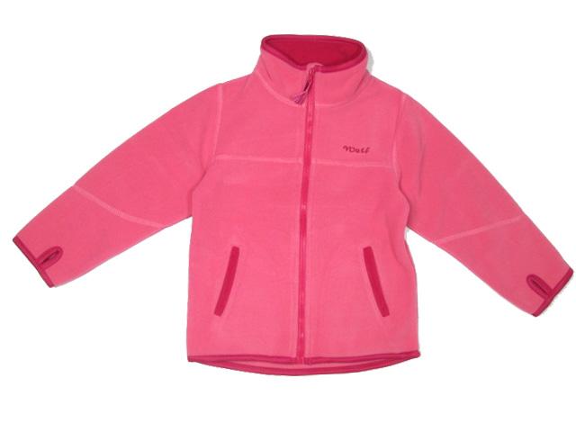 vel.98-Dívčí fleesová mikina WOLF - barva růžová