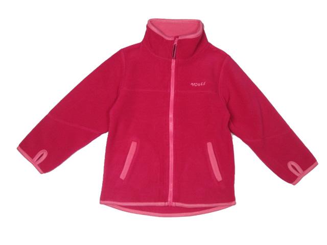 vel.98-Dívčí fleesová mikina WOLF - barva tm.růžová