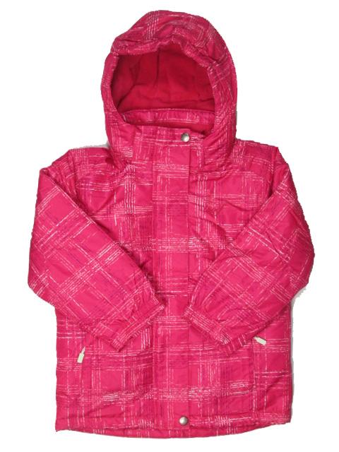 vel.134-Dívčí zimní bunda WOLF - tm.růžová barva
