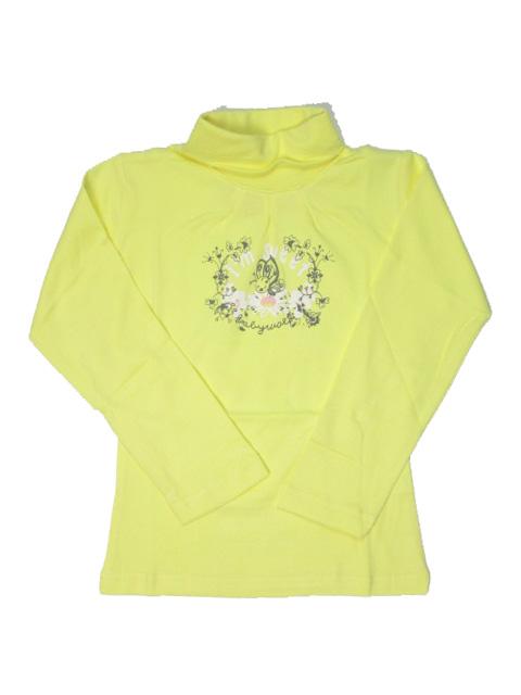 vel.104,116,122,-Dívčí rolák WOLF - barva žlutá