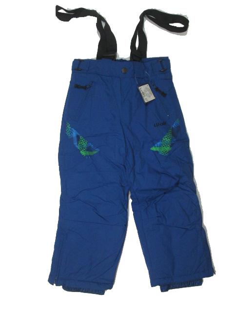 vel.98-Lyžařské zateplené kalhoty - WOLF - modrá barva