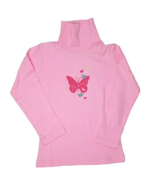 98,104,116-Dívčí rolák WOLF - barva růžová