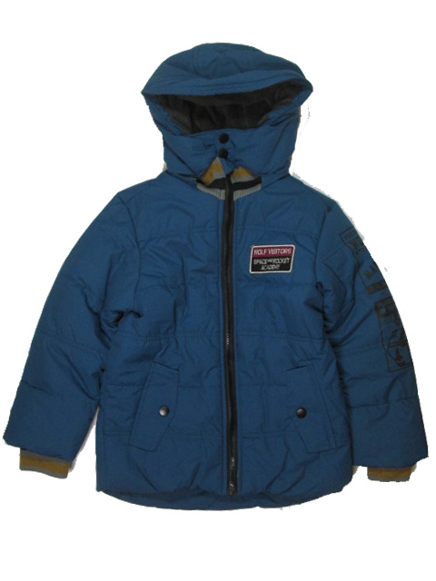 vel.110,134,140-Chlapecká zimní bunda WOLF - tm.petrolejová barva