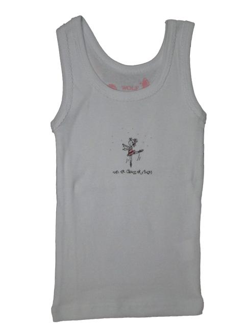 vel.86-92,110-116-Dívčí košilka - tílko WOLF - bílá barva