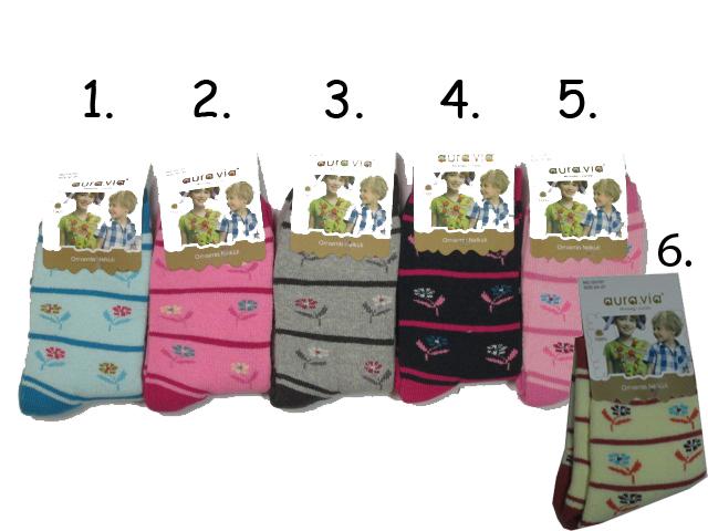 Dívčí bambusové teplejší ponožky vel. 28-31