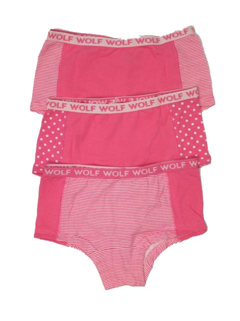 134-140-Dívčí spodní kalhoty WOLF - trojpack