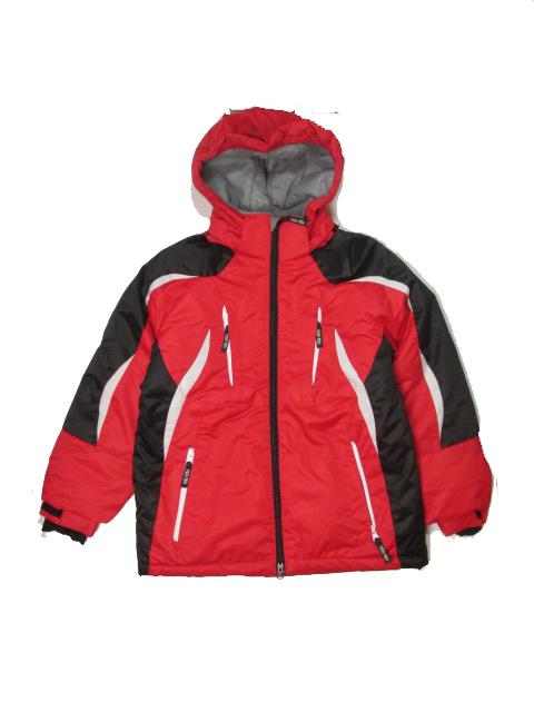 140-146,-Dětská zimní bunda YDI - červená barva