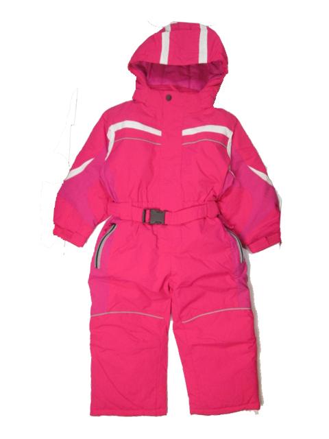 vel.98-Dívčí zimní kombinéza KUGO - barva růžová