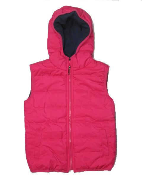 122-Dívčí zateplená zimní vesta GOOD CHILDREN - červená (jahodová)