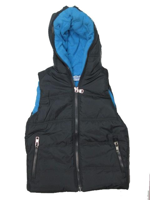 vel.116-Chlapecká zateplená zimní vesta GOOD CHILDREN - tm.šedá