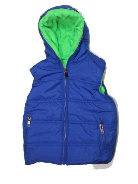 vel.122,134,146-Chlapecká zateplená zimní vesta GOOD CHILDREN - modrá