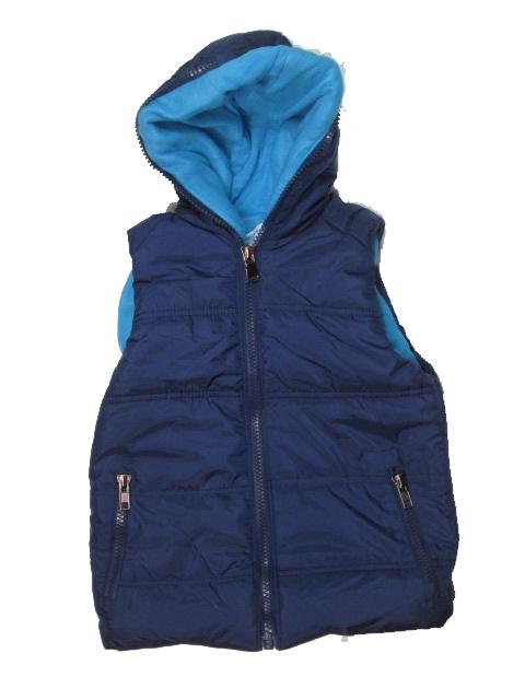 vel.116,122,-Chlapecká zateplená zimní vesta GOOD CHILDREN - tm.modrá