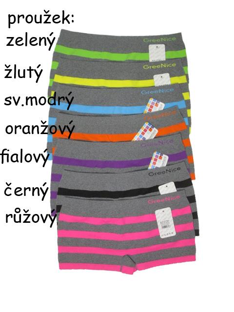 vel.M/L-Dámské bezešvé(nohavičkové) kalhotky Greenice