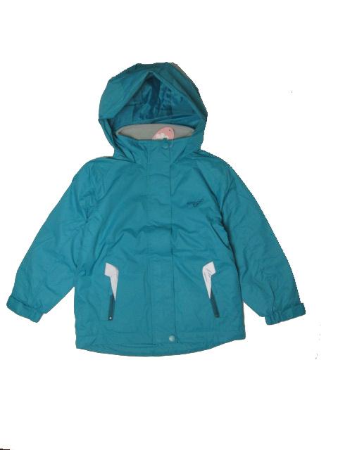 vel.128-Dívčí podzimní/jarní bunda WOLF - barva zeleno-modrá