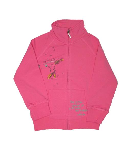 vel.98-Dívčí mikina WOLF - růžová barva