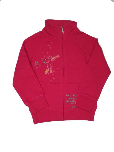 vel.104-Dívčí mikina WOLF - malinová barva