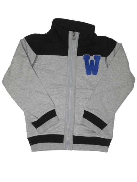 vel.98-Chlapecká mikina WOLF - šedá barva