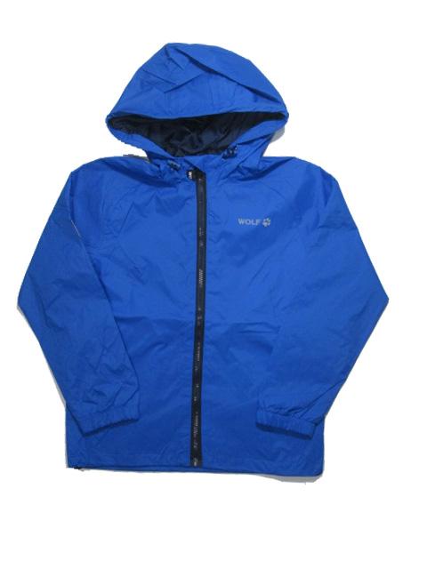 vel.140-158- Chlapecká jarní bunda s látkovou podšívkou-modrá