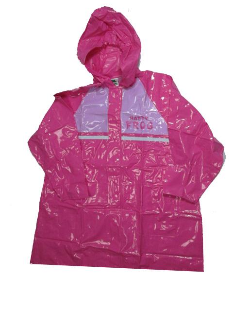 vel.116-140-Dětská pláštěnka FROG -růžová barva