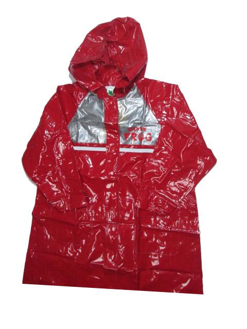 vel.122-128-Dětská pláštěnka FROG - červená barva