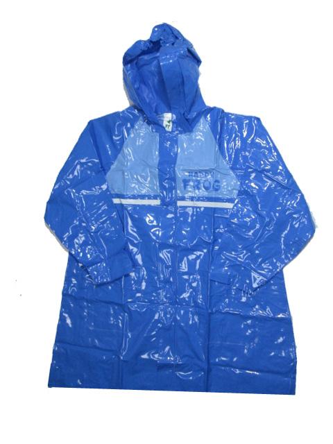 vel.122-128-Dětská pláštěnka FROG - modrá barva