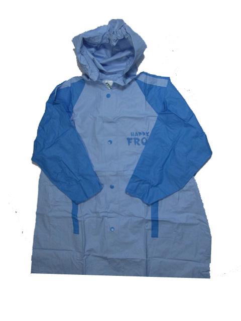 vel.116-122-Dětská pláštěnka FROG - modrá barva