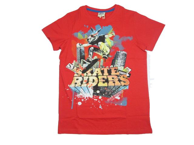 vel.152,158,164-Chlapecké tričko-Glo-Story - krátký rukáv - červená barva