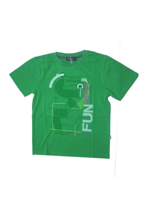 vel.146-164-Chlapecké tričko KUGO - krátký rukáv - zelená barva