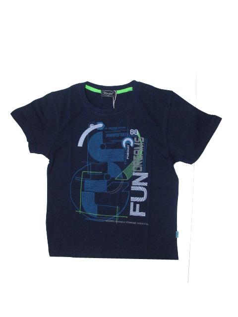 vel.134,164-Chlapecké tričko KUGO - krátký rukáv - tm.modrá barva